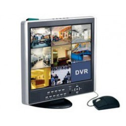 """Recorder DVR 8CH VIDEO H264 COMBO ΜΕ LCD 15""""D6558ALB BOR Top Electronic"""