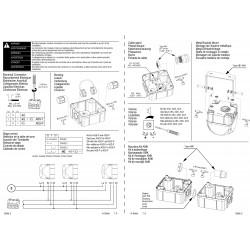 Σειρήνα 8 Τόνων Μικρή Φάρος LED Σταθερός 24VAC/DC 103dB ADS-P AUER Top Electronics