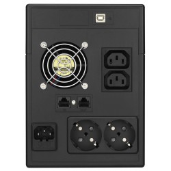 UPS LINE INTERACTIVE 1500VA Modified Halftone LA-VST-1500 LCD BK VOL TOP ELECTRONIC