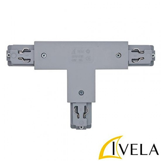 T - Connector Right Square For Lighting Rails IVELA