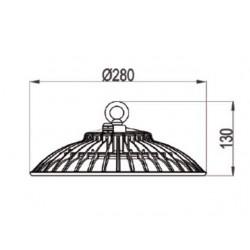 High Bay LED SMD & Driver AC 100-240V 100W 280Ø IP65 Universe