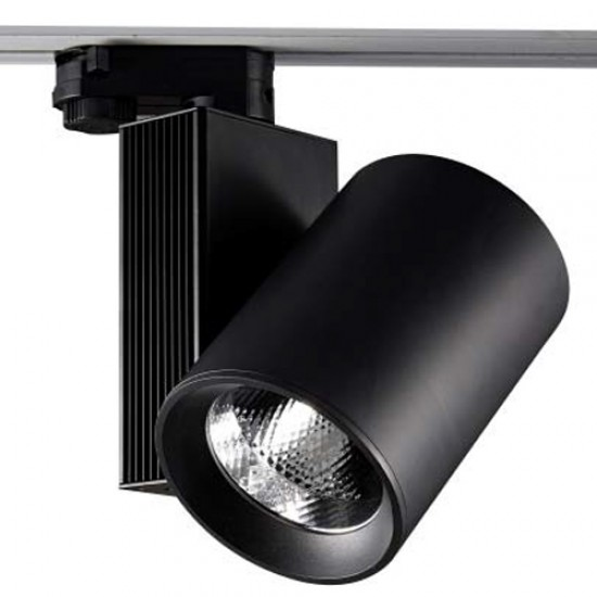 30W LED COB Track Spot With 3-Phase Adaptor Black Body UNIVERSE