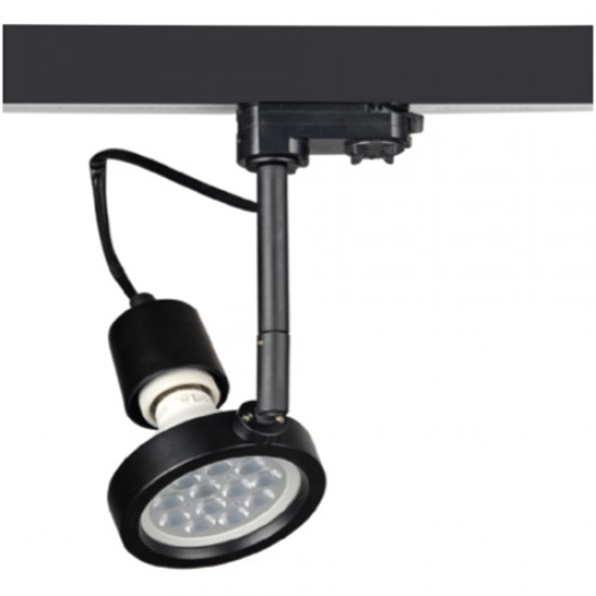Track Spot For PAR30 / E27 Lamp With 3 - Phase Adaptor 100W max MTI UNIVERSE