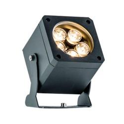 LED Εξωτερικός Προβολέας Αλουμινίου σε Ανθρακί L81X81 IP66 25° 5x2W 1100Lm 3000K Aris VIOKEF
