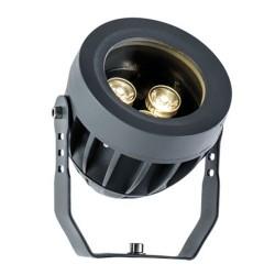 LED Aluminium Prosector In Dark Gray D100 IP66 3x1W 330Lm 3000K 25° Ermis VIOKEF