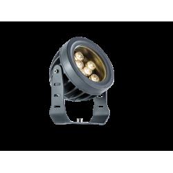LED Εξωτερικός Προβολέας Αλουμινίου σε Ανθρακί D130 IP66 9x1W 990Lm 3000K 25° Ermis VIOKEF