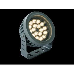 LED Aluminium Prosector In Dark Gray D170 IP66 18x1W 1980Lm 3000K 25° Ermis VIOKEF