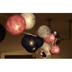 Decorative Festoon Beelights with Lamps in Precious Blue Moon Colours