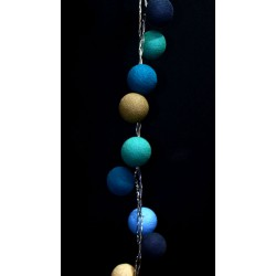 Decorative Festoon Beelights with Lamps in Precious Sea Salt Colours