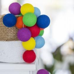 Έτοιμη Διακοσμητική Γιρλάντα Beelights Με Φωτάκια Σε Χρωματισμούς Rainbow