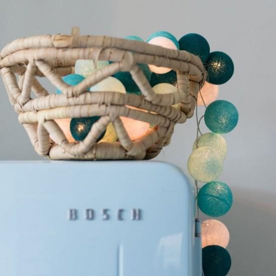Decorative Festoon Beelights with Lamps in Aqua Colours