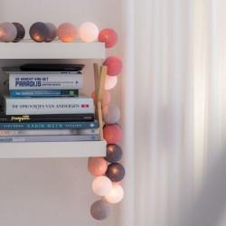 Έτοιμη Διακοσμητική Γιρλάντα Beelights Με Φωτάκια Σε Χρωματισμούς Roses