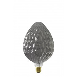 LED Λάμπα Filament 240V 4W 60lm E27, Titanium 2100K Dimmable 150x245mm Calex Sevilla