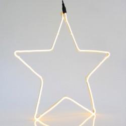 Warm White Star With 2m Neon Rope Light, 54X58CM, IP44