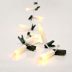 Σετ 10 Κεριά Μπαταρίας, Θερμά Λευκά Led