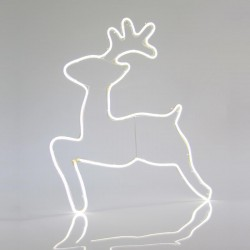 White Deer, With 3m Neon Rope Light, 60X58CM, IP44