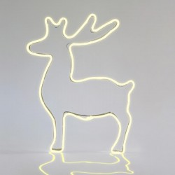 Warm White Deer With 3m Neon Rope Light, 51X65CM, IP44