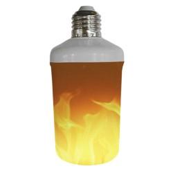 LED E27 Flame Με Εφέ Φλόγας 3W Με Αναστροφή Μοιρών και 3 Λειτουργίες Led Id