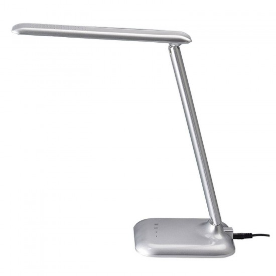 Led Επιτραπέζιο Φωτιστικό 6W Με Δυνατότητα Εναλλαγής Απόχρωσης Και Dimming ACA, Ασημί