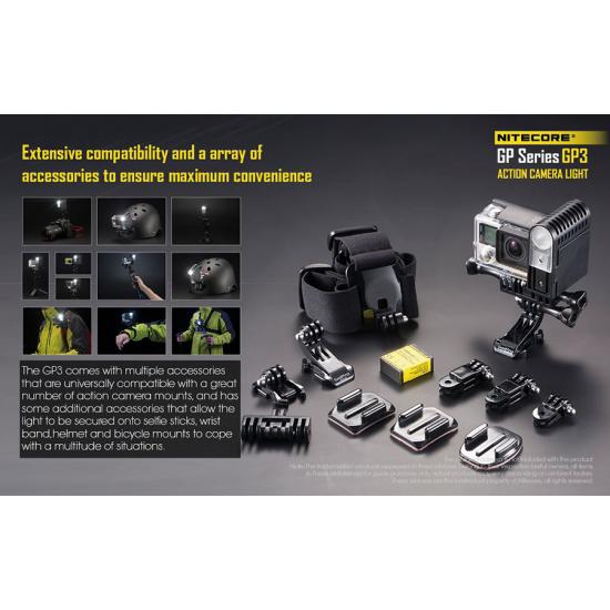 Φακός - Φωτιστικό LED Action Camera NITECORE για GoPro και Sony. GP3