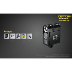 Action Camera Light NITECORE for GoPro and Sony. GP3