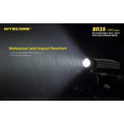 Επαγγελματικός Φακός LED NITECORE BR35, 1800L, Ποδηλάτου