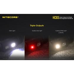 Επαγγελματικός Φακός LED NITECORE HC65, Κεφαλής