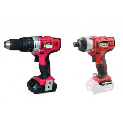 Stayer Set Hammer Drill & Pulse 2.0Ah Li-Ion 18V (with 2 batteries) - PBL 2182 PK + IS L18