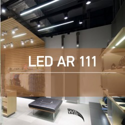 LED Λάμπα AR111 COB 12W 24º 220V + Driver Space Lights