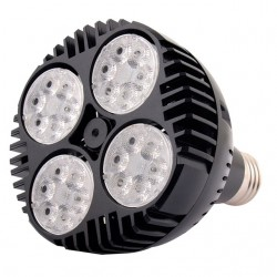 LED Λάμπα PAR30 35W Cree Chip 45º 230V Μαύρη Space Lights