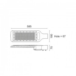 Hight Power LED Φωτιστικό Δρόμου 150W 140° IP65 SpotLight