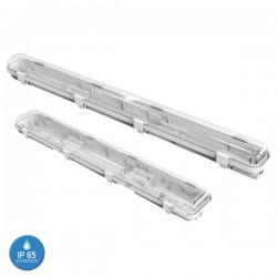 Outer Double Fixture Water Resistant For 2 Fluorescent Led Tubes 150cm IP65 Spotlight