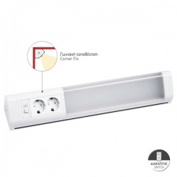 LED 10W Corner Bench with Two Sockets And On / Off Switch Spotlight