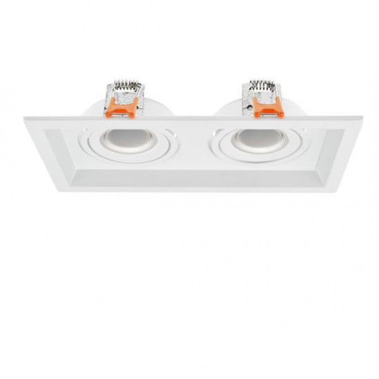 MR16-GU10 Ceiling Mounted Spot 2 Slots Rotation To All Directions Spotlight