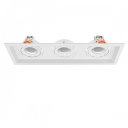 MR16-GU10 Ceiling Mounted Spot 3 Slots Rotation To All Directions Spotlight