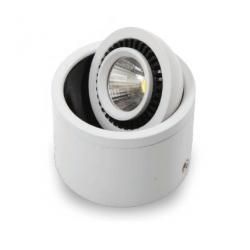 Led Cob Φωτιστικό Κινούμενο Στρογγυλό Επιφανείας 3W 230V SpotLight