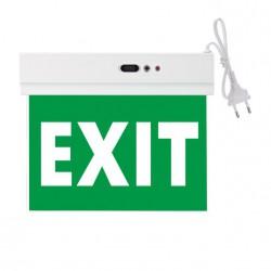 LED SMD Φωτιστικό Ασφαλείας Οροφής Από Πλαστικό Σε Λευκό Με Ένδειξη EXIT 230V IP20 Spotlight
