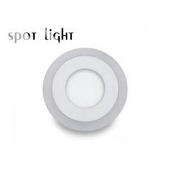 Στρογγυλό Slim LED Panel Επιφανείας 6+3W SMD Με 3 Διαφορετικές Λειτουργίες SpotLight