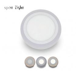 Στρογγυλό Slim LED Panel Επιφανείας 18+6W SMD Με 3 Διαφορετικές Λειτουργίες SpotLight