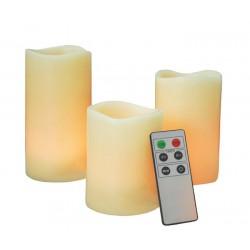 Γνήσιο Αρωματικό Κερί Με Led Φωτισμό Που Ρυθμίζεται με Χειριστήριο