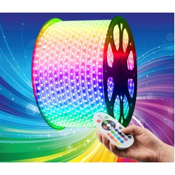 LED Ταινία 230V 14.4W/m 60L/m 5050 IP65 Dimmable - RGB Universe