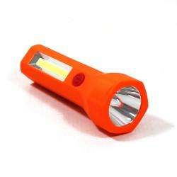LED Φακός Εργασίας Μαγνητικός Με Led 3W + 1W 3xAAA Πορτοκαλί Universe