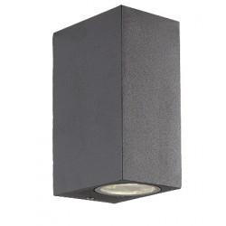 Metallic Wall Lamp Lighting Of Aluminium In Grey H:150 2xGU10 IP44 In Various Colors TILOS VIOKEF