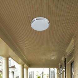 Outdoor Aluminium Ceiling Lamp With PC Lens D300 LED IRON BRIGHT VIOKEF