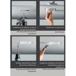 Γύψινο Χωνευτό Φωτιστικό Με LED 1W Θερμό Λευκό H100 Drop Ceramic VIOKEF