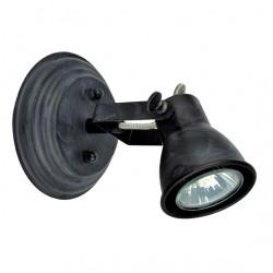 Lighting Fixture Single Spot In Black Patina Vintage 1xGU10 VIOKEF