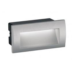 LED Εξωτερικό Χωνευτό Επιτοίχιο Φωτιστικό 3W Αλουμινίου Σε Δύο Χρώματα Riva 140x70 VIOKEF