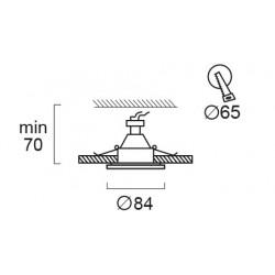 Recessed Adjustable Spot Waterproof IP44 Round Viki  In White Color VIOKEF