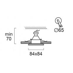 Recessed Adjustable Spot Waterproof IP44 Square Viki  In White Color VIOKEF