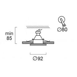 Recessed Adjustable Spot Waterproof IP44 Round Yan In White Color VIOKEF